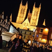 Lincoln Christmas Market by Night